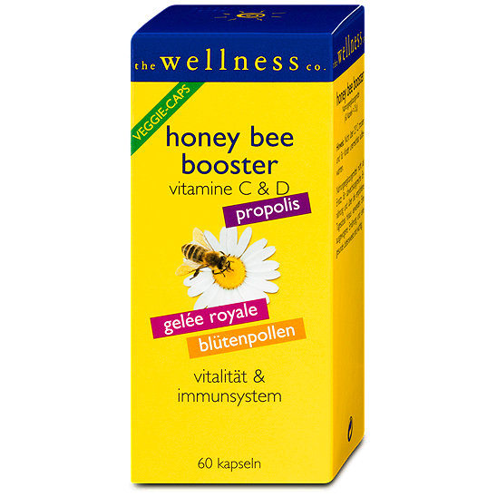 the wellness co honey bee booster vitamine c d kapseln. Black Bedroom Furniture Sets. Home Design Ideas